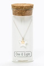 """Ketting zilver/goud  """"Double star"""""""