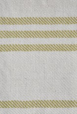 Deken - geel gestreept- gerecycled