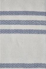 Deken - blauw gestreept - recycled