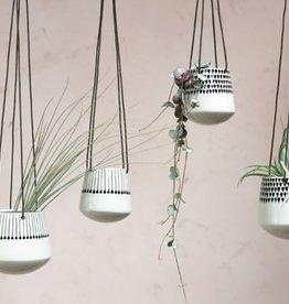 Nkuku - Plantenhanger Keramiek zwart druppel