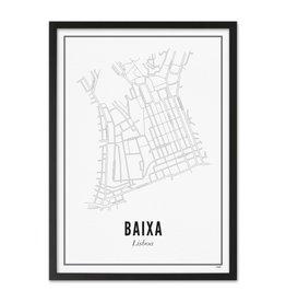 WIJCK. - Lisbon Baixa A3 (met lijst)