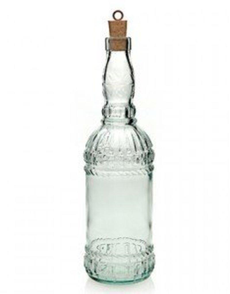 Glazen waterfles met kurk