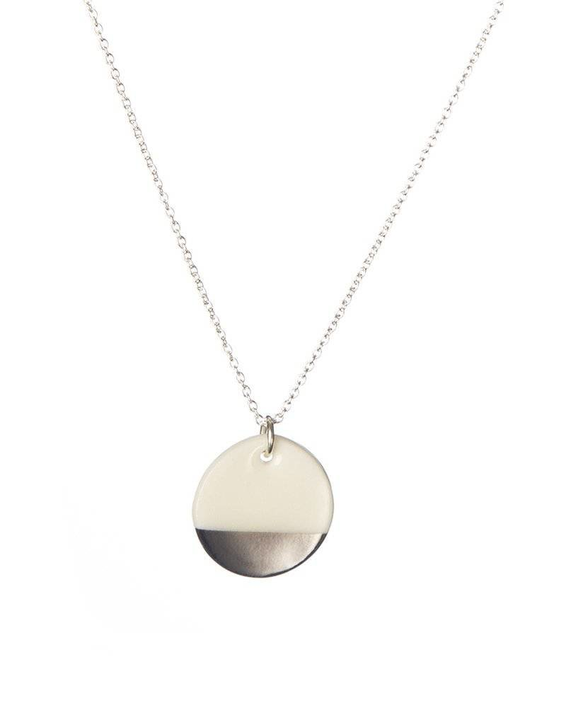 """Ketting zilver """"Dipped Design"""""""