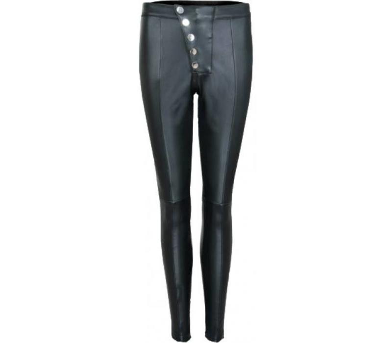 La Sisters Leather button legging