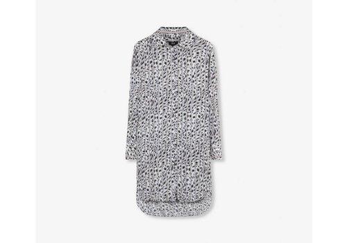 ALIX The Label Alix Striped leopard long blouse