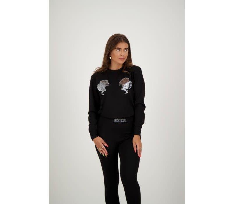 Reinders Headlogo sequins sweater