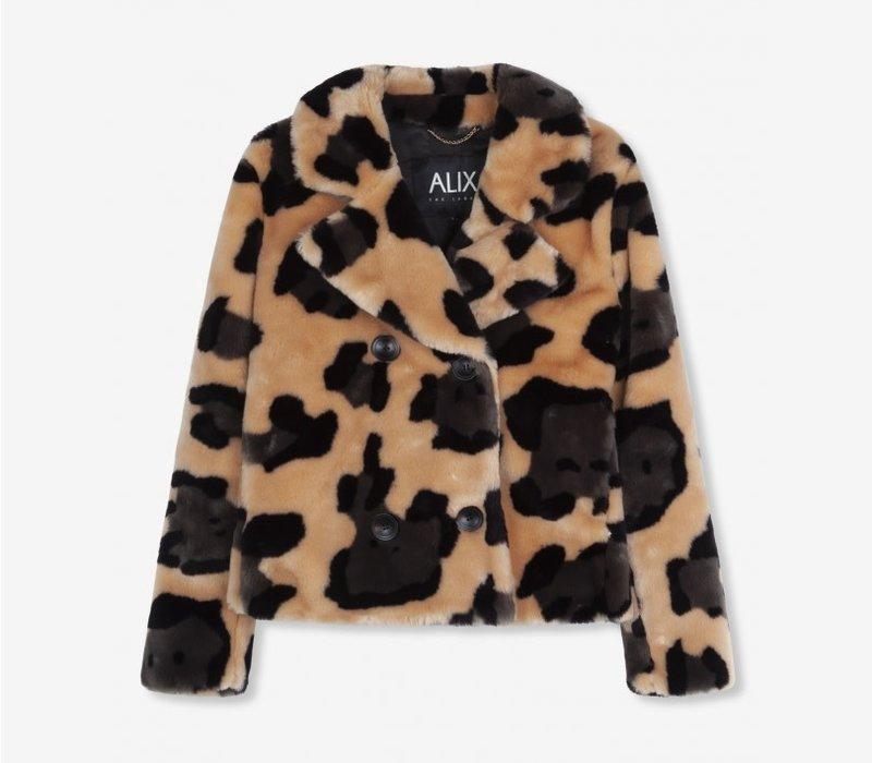 Alix animal faux fur short coat