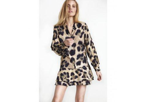 ALIX The Label Alix Woven animal blouse