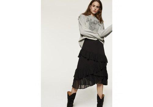 ALIX The Label Alix Dot chiffon skirt