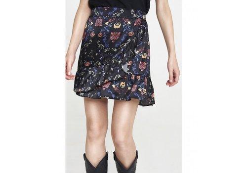 ALIX The Label Alix multi colour satin short skirt