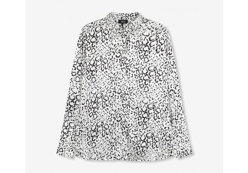 ALIX The Label Alix Graphic animal satin blouse