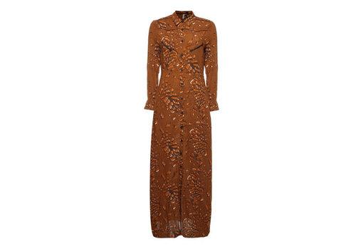 Melt Melt Leopard blouse dress maxi