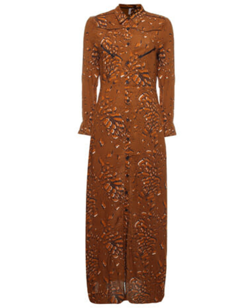 Melt Leopard blouse dress maxi