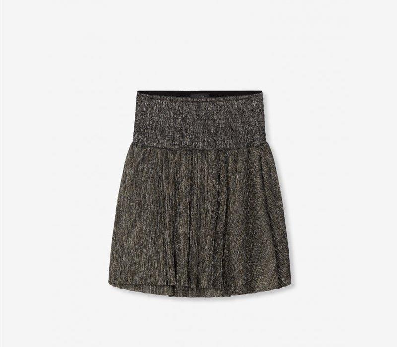 Alix Lurex mesh short skirt