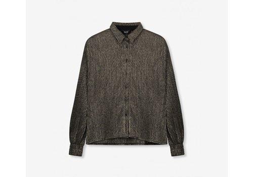 ALIX The Label Alix Lurex mesh blouse