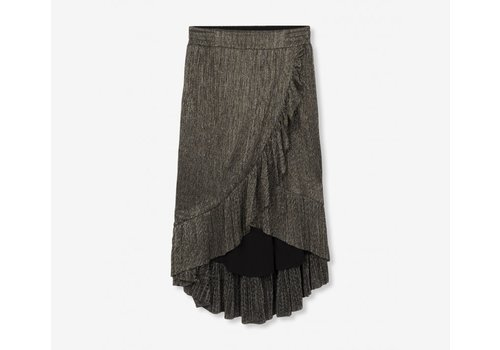 ALIX The Label Alix Lurex mesh long skirt