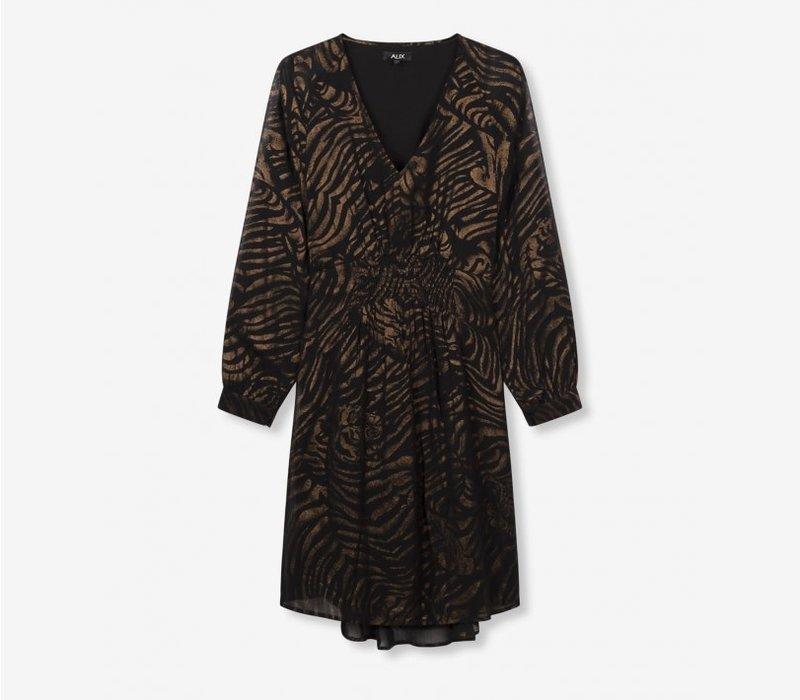 Alix Tiger chiffon dress