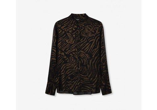 ALIX The Label Alix Tiger chiffon blouse