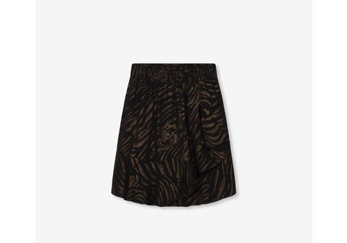 ALIX The Label Alix Ruffle tiger chiffon skirt