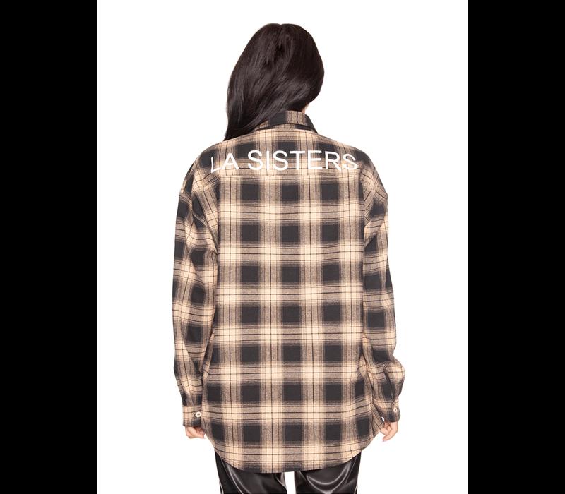 LA Sisters oversized checked shirt