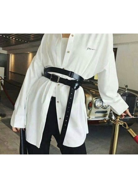 Elvy plain belt woman black