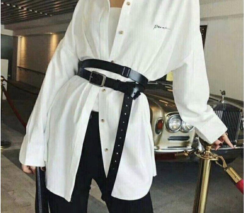 Elvy plain belt woman black