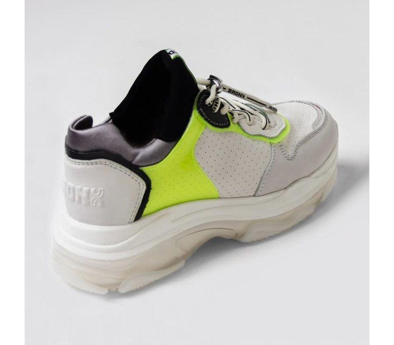 Bronx sneaker off white/neon