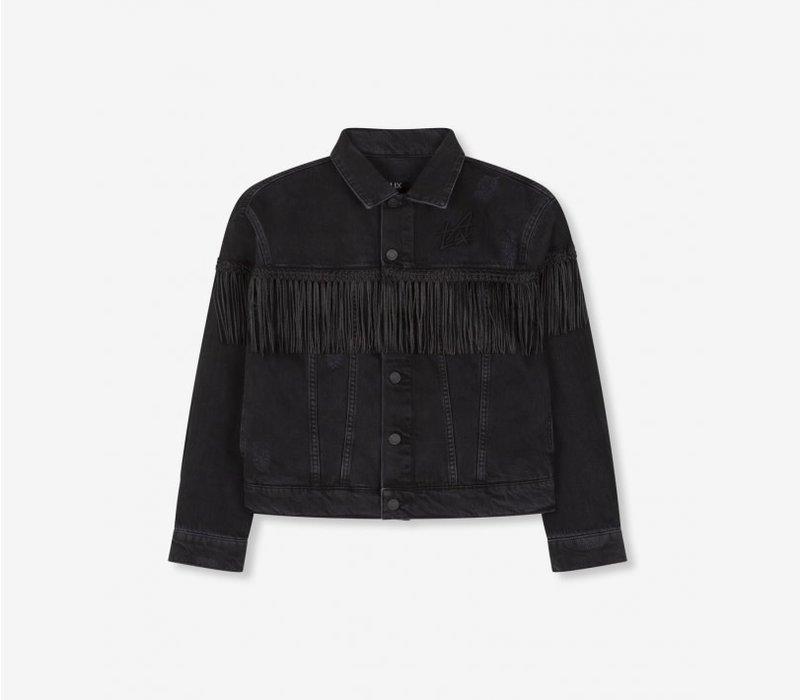 Alix the label Woven denim jacket