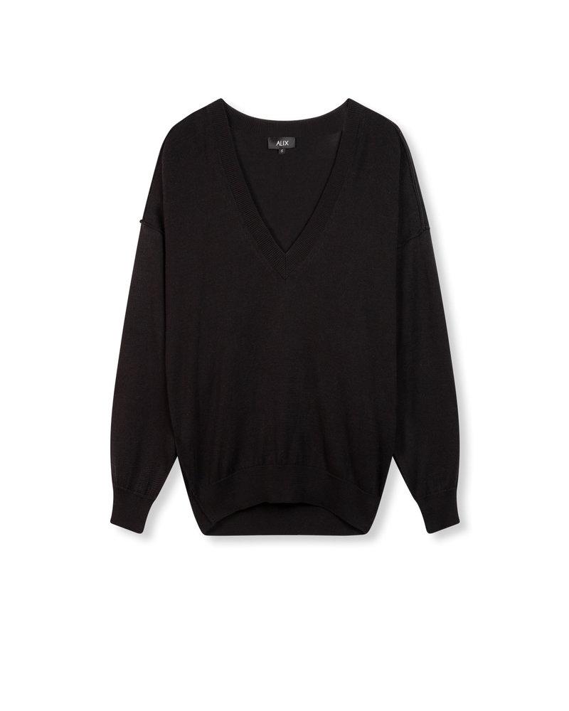 ALIX The Label Alix Cotton v-neck pullover 201839454