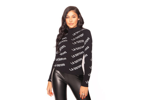 La Sisters La sisters Knitted Logo turtle neck top