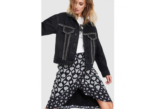 ALIX The Label Alix woven denim jacket with studs