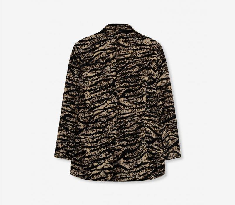 Alix woven animal flow blazer