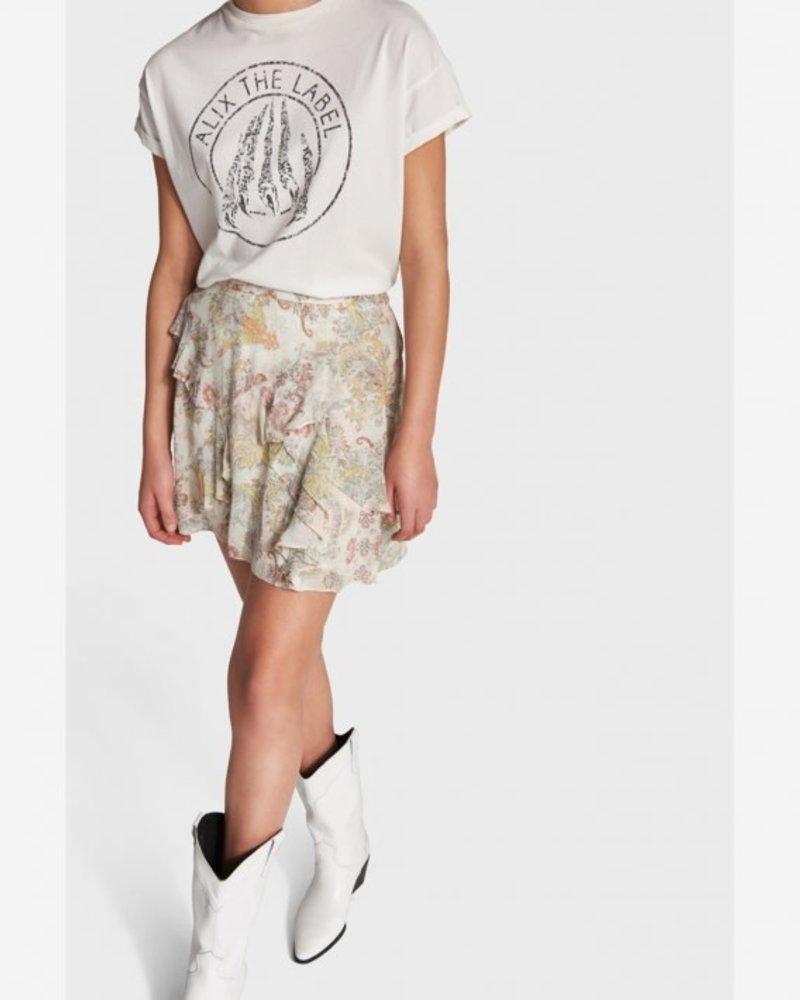 ALIX The Label Alix Short paisley chiffon skirt