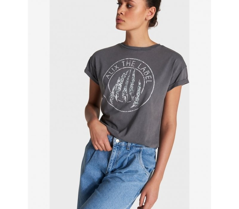 Alix knitted vintage claw t-shirt