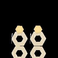 Lott.gioielli resin heaxagon open S oorbellen  Stand/gold S