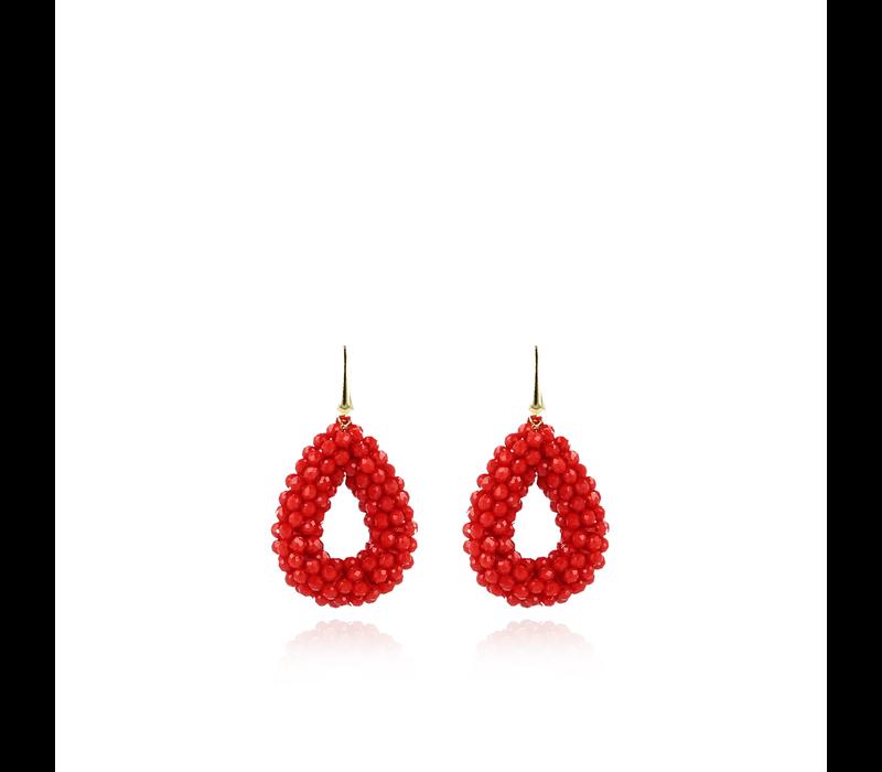 Lott.gioielli glasberry druppel M oorbellen