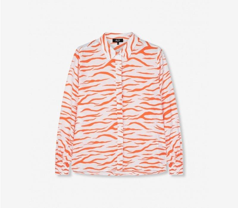 Alix ladies woven zebra blouse