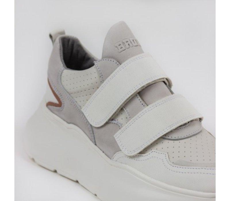 Bronx sneaker off white/pink