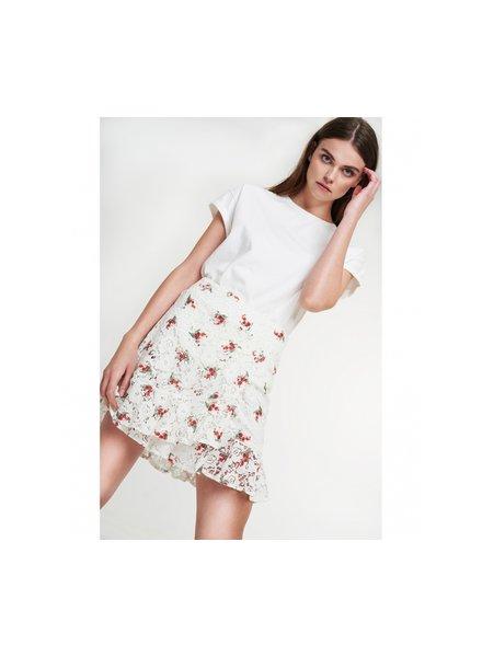 ALIX The Label Alix Ladies woven rasberry lace skirt