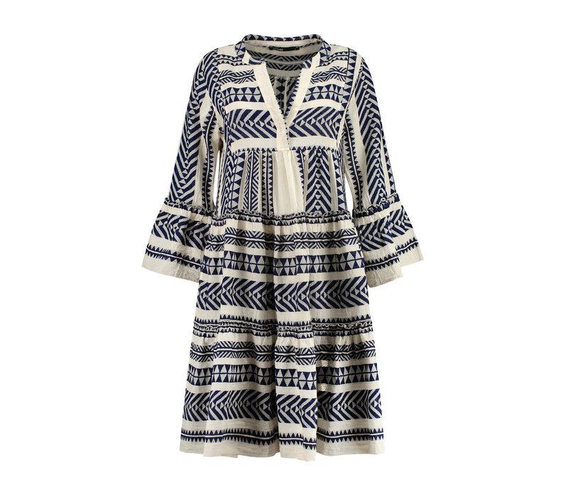 Devotion short midi dress embroidery ella