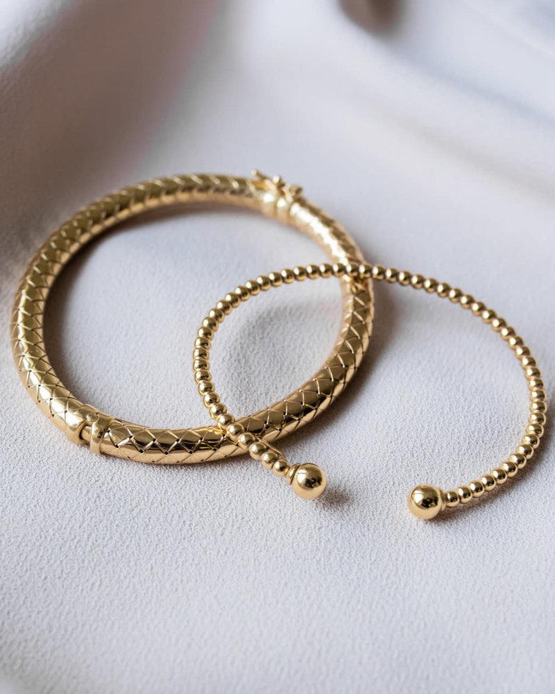 LOTT. GIOIELLI Lott Gioielli Cannonball bangle armband