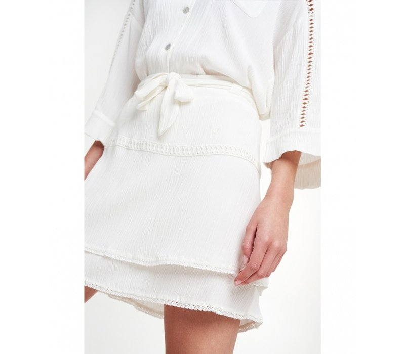 Alix crinkle mini skirt