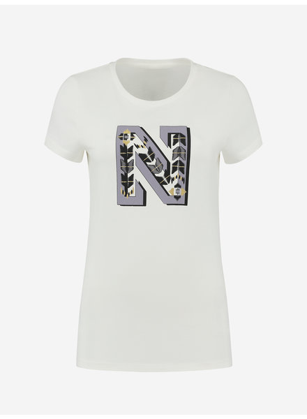 Kate moss N embroidery t-shirt