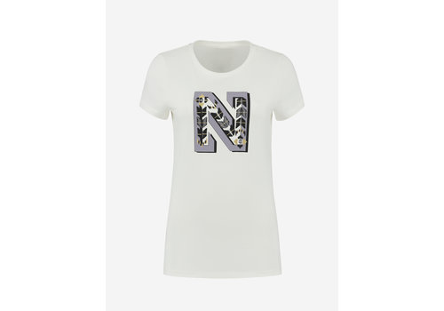 NIKKIE Selected by Kate Moss Kate moss N embroidery t-shirt