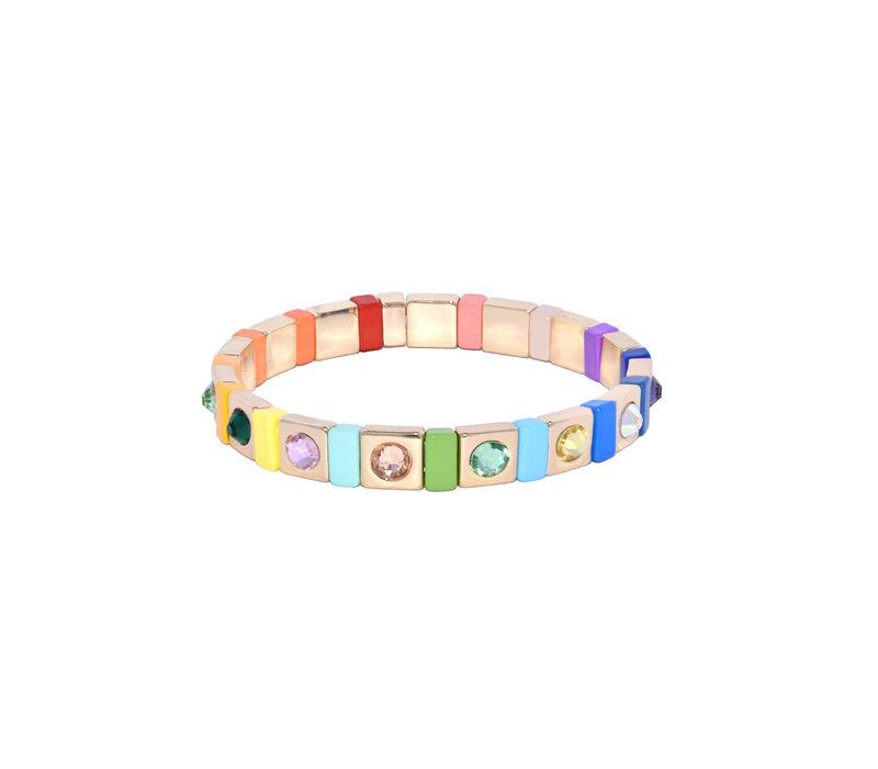 Juli Dans Gabriella Rainbow Gemstone Bracelet