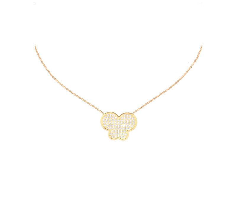 Juli Dans I Love You Butterfly Necklace