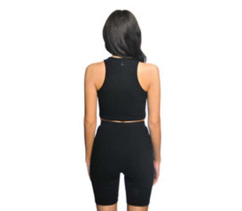 La Sisters Ribbed Cycling Two Piece