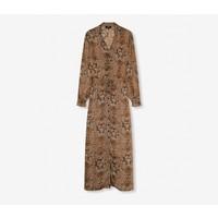Alix crêpe animal long dress 204320619