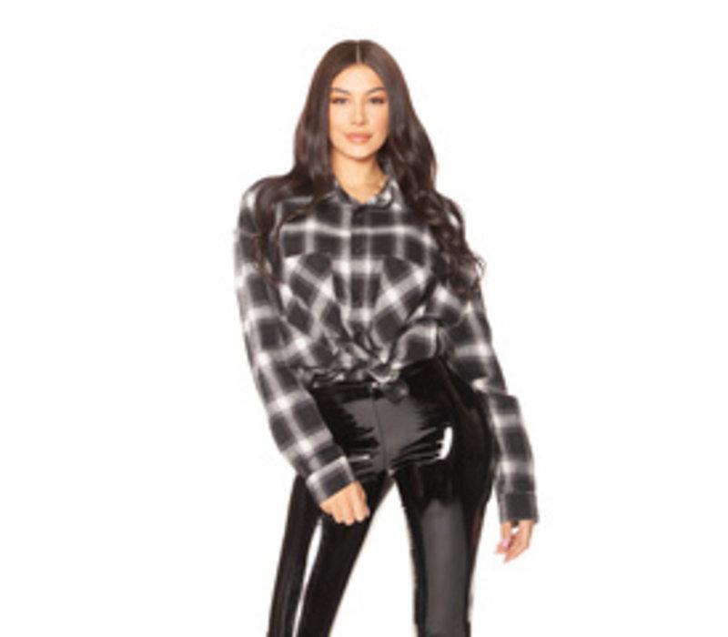 La Sisters Oversized check shirt