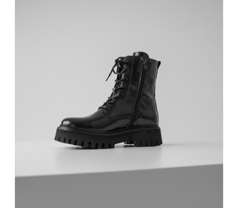 Bronx box leather boots